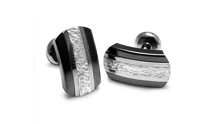 Edward Mirell - 115_edward-mirell_black-titanium-and-sterling-silver-accessory_a363o-00000_l.jpg - brand name designer jewelry in Shrewsbury, New Jersey