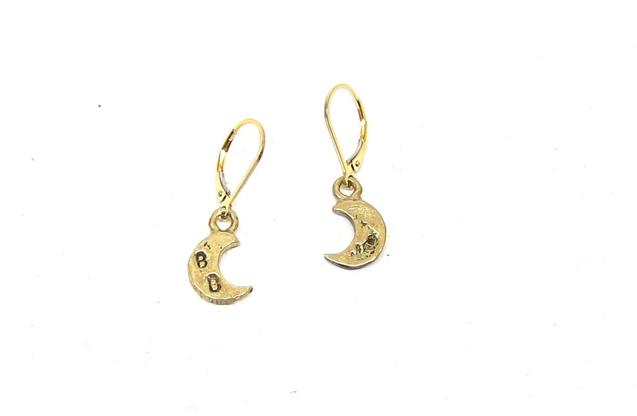 Britt Bolton - 14K-Mini-Moon-Earrings.jpg - brand name designer jewelry in New York, New York