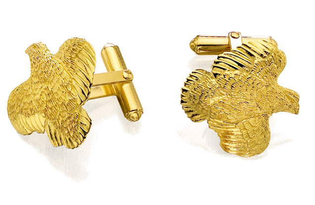 Grainger McKoy - 18k_quail_cufflink.jpg - brand name designer jewelry in Sumter, South Carolina