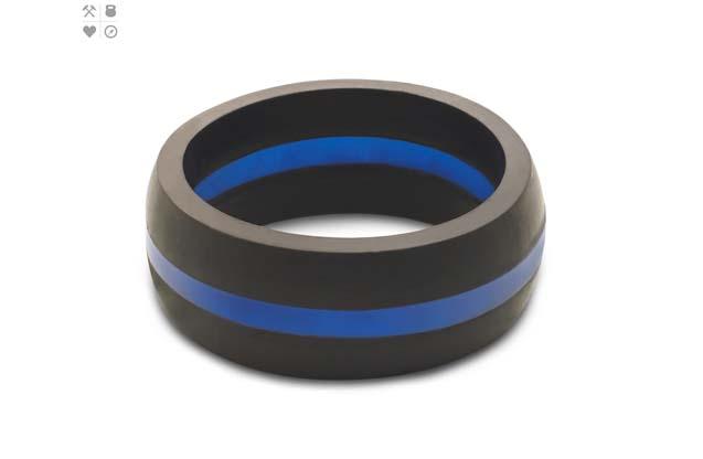 Qalo - Color_Blue_Mens_ThinLine.jpg - brand name designer jewelry in Placentia, California