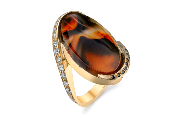 Mark Schneider - DS1375---Oval-Agate-Ring.jpg - brand name designer jewelry in Traverse City, Michigan