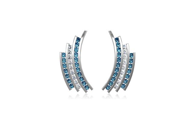 DeLeo - E1974-BLUE.jpg - brand name designer jewelry in Missoula, Montana