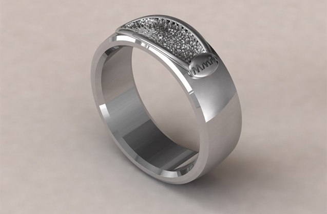 Fingerprint Jewelry - FIB01A1S.jpg - brand name designer jewelry in Houston, Texas