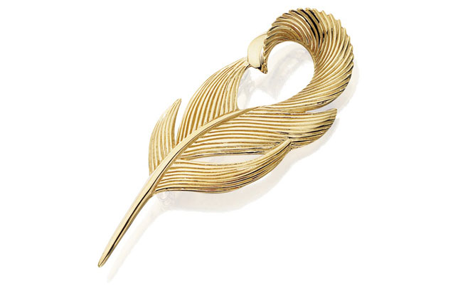 Grainger McKoy - Gold-Mallard-Feather-Pin.jpg - brand name designer jewelry in Sumter, South Carolina