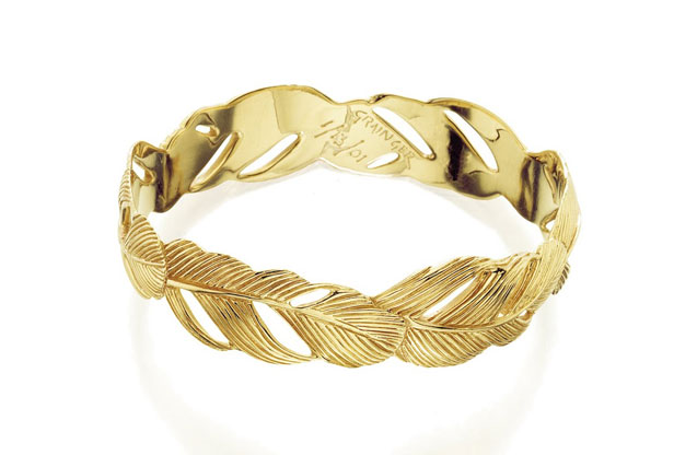 Grainger McKoy - Gold_Wide_Feather_Bangle.jpg - brand name designer jewelry in Sumter, South Carolina