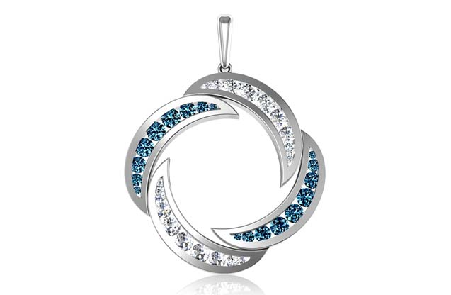 DeLeo - P2129-blue.jpg - brand name designer jewelry in Missoula, Montana