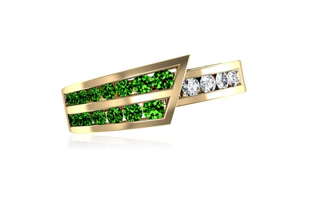 DeLeo - R8640-GREEN.jpg - brand name designer jewelry in Missoula, Montana