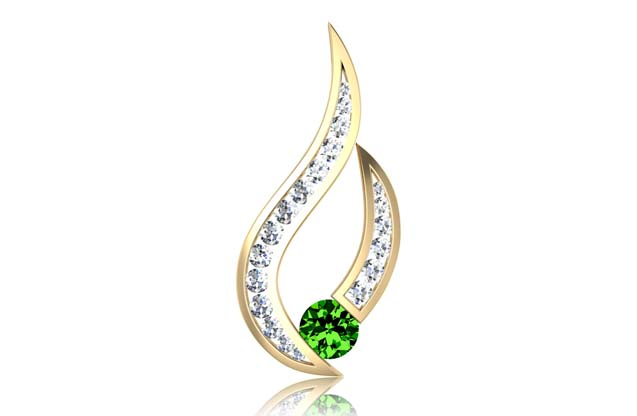 DeLeo - S2133-green.jpg - brand name designer jewelry in Missoula, Montana