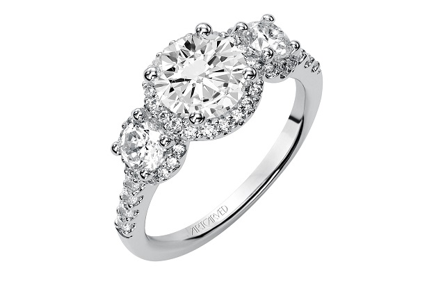 Lancaster Pas Best Selection Art Carved Diamond Engagement Rings