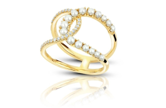Imperial Pearls - gold-seed-ring-917121FW.jpg - brand name designer jewelry in Brenham, Texas