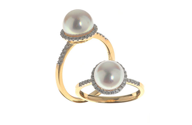 Imperial Pearls - halo-ring-916830A7.jpg - brand name designer jewelry in Brenham, Texas
