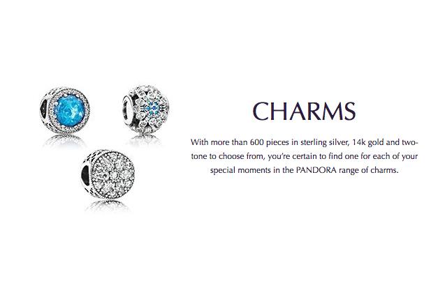 charmes pandora or