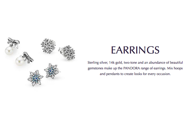 Pandora - pandora-earrings.jpg - brand name designer jewelry in San Diego, California