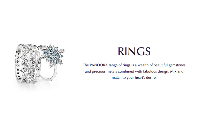 PANDORA - pandora-rings.jpg - brand name designer jewelry in N. Charleston, South Carolina