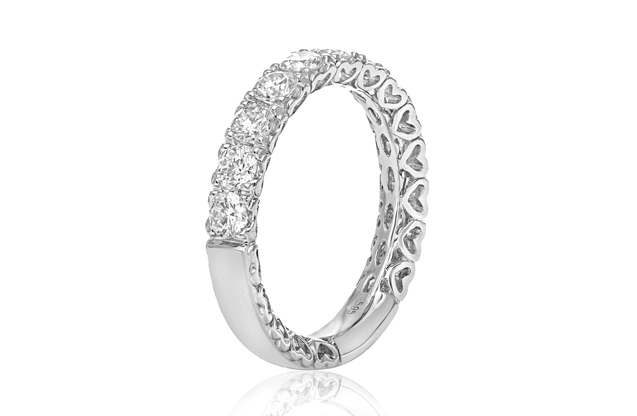 Roman + Jules - roman_and_jules_BR548WB-1_WHITE_WEDDING_BAND.jpg - brand name designer jewelry in Dallas, Pennsylvania
