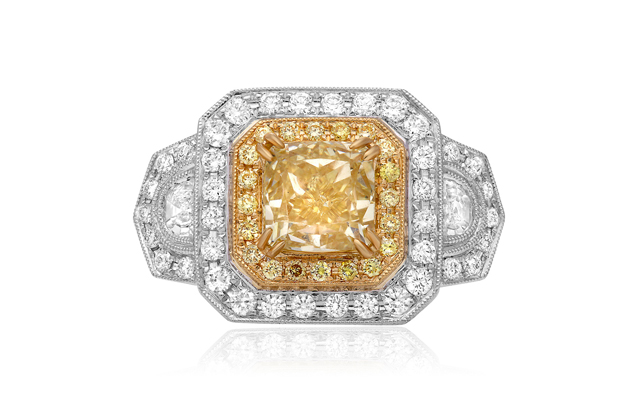 Roman + Jules - roman_and_jules_NR611-1_WHITE_YELLOW_GOLD_18K_RING.jpg - brand name designer jewelry in Lauderdale-By-The-Sea, Florida