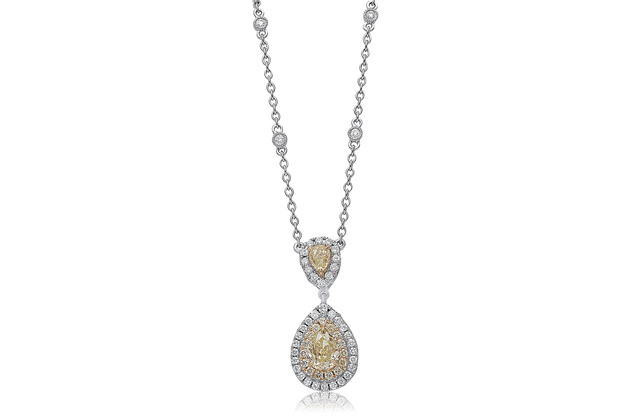 Roman + Jules - roman_and_jules_Pear_Shaped_Diamond_Necklace.jpg - brand name designer jewelry in Linwood, New Jersey