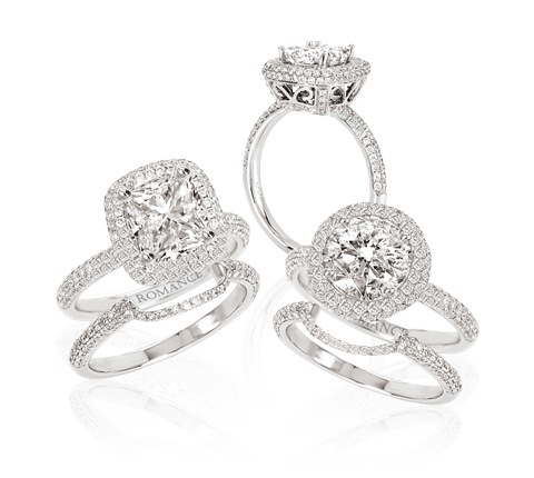 The Romance Diamond Collection Grenada Mississippi Brand Name Designer Jewelry At Allen S Fine Inc