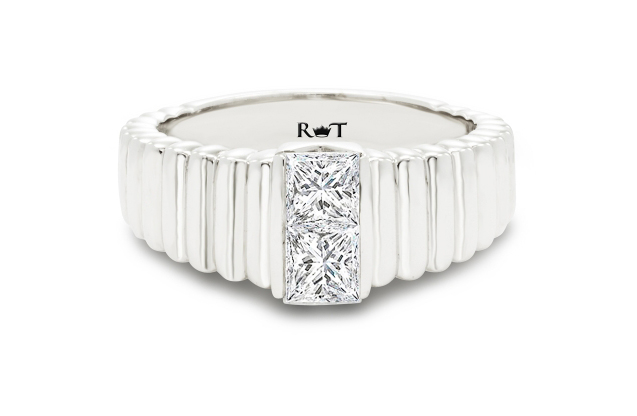 Rony Tennenbaum - rony_tennenbaum_double_diamond_gay_lesbian_marriage_engagement_wedding_ring_band_ripples_RJ5169W.jpg - brand name designer jewelry in Natick, Massachusetts