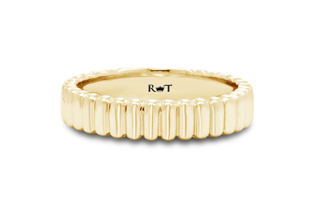 Rony Tennenbaum - rony_tennenbaum_gold_gay_lesbian_marriage_wedding_anniversary_band_ripples_of_love_RJ5208Y.jpg - brand name designer jewelry in Natick, Massachusetts