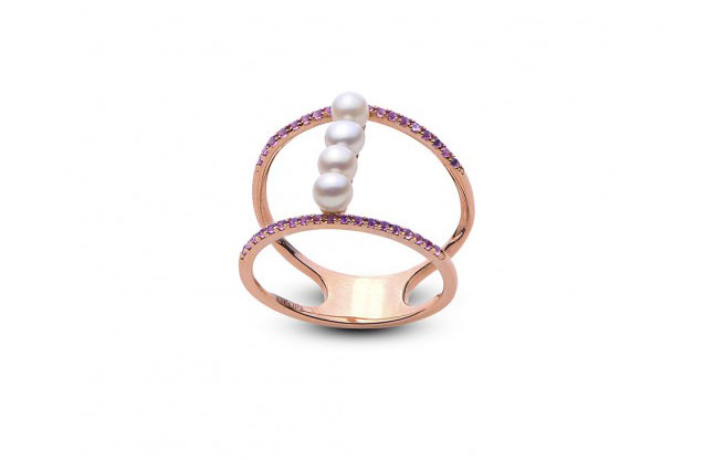 Imperial Pearls - rose-gold-amy-ring-918301RGAM.jpg - brand name designer jewelry in Ellwood City, Pennsylvania