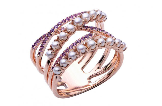 Imperial Pearls - rose-ring-918150rgam.jpg - brand name designer jewelry in Sayville, New York