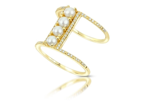 Imperial Pearls - seed-pearl-bar-ring-917119FW.jpg - brand name designer jewelry in Bad Axe, Michigan