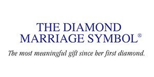 The Three Stone Diamond Marriage Symbol will help you celebrate in the most meaningful and romantic way possible. Two interlocking circles are a universal sign of your marriage. The Three beautiful diamonds represent your past, your present and your future together. Say I Forever Do, perfectly!