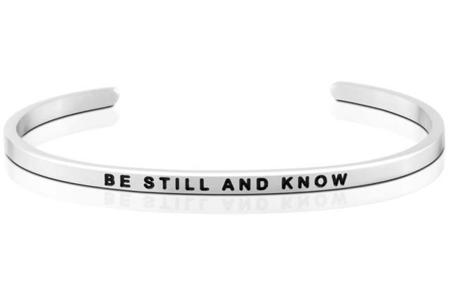 MantraBand - Be_Still_And_Know_bracelet.jpg - brand name designer jewelry in  Pittsburgh, Pennsylvania