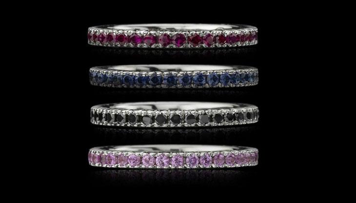 Christopher Designs Crisscut Engagement Rings