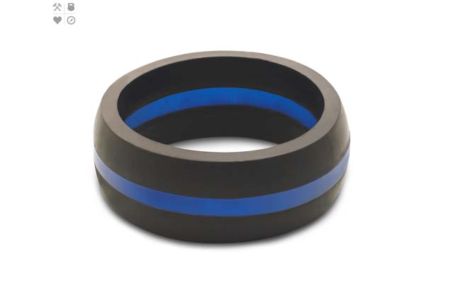 Qalo - Color_Blue_Mens_ThinLine.jpg - brand name designer jewelry in Placentia, California