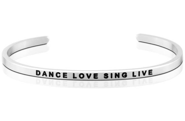 MantraBand - Dance_Love_Sing_Live_bracelet.jpg - brand name designer jewelry in Mount Pleasant, Michigan
