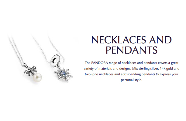 Pandora - pandora-necklaces-pendants.jpg - brand name designer jewelry in Bad Axe, Michigan